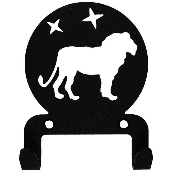Крючок универсальный, серия ″Астрология″, модель ″Лев - 2″, цвет черный купить оптом и в розницу