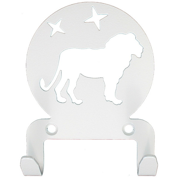 Крючок универсальный, серия ″Астрология″, модель ″Лев - 2″, цвет белый купить оптом и в розницу