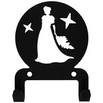 Крючок универсальный, серия ″Астрология″, модель ″Дева - 2″, цвет черный купить оптом и в розницу