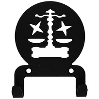 Крючок универсальный, серия ″Астрология″, модель ″Весы - 2″, цвет черный купить оптом и в розницу
