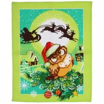 Полотенце вафельное 45*60см ″Рождественские истории″ зеленое купить оптом и в розницу