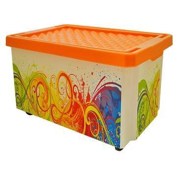 Ящик дляхранения Optima Брызги 57л *5 купить оптом и в розницу
