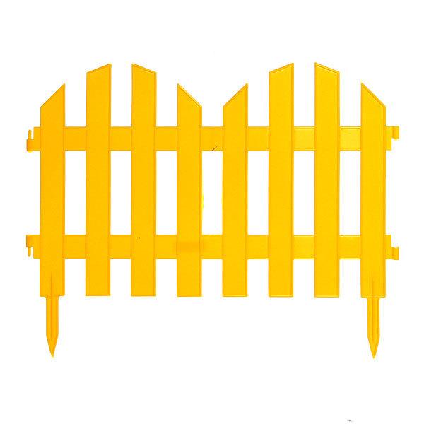 Забор декоративный №4 (30*300см) ЗД04 желтый купить оптом и в розницу
