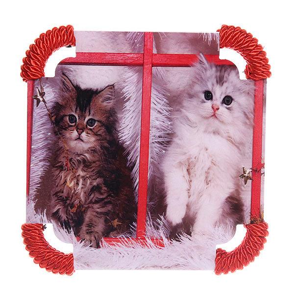 Подставка декоративная 20*20 см ″Кошечки″ в ассортименте купить оптом и в розницу