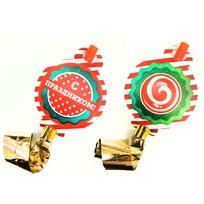 Язычки карнавальные 2 шт ″С праздником!″, Веселый день купить оптом и в розницу