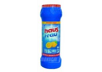 Порошок чистящий универсальный Haus Frau лимон 400гр (6660) купить оптом и в розницу