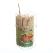 Зубочистки 100шт в пластиковой банке 381-1 купить оптом и в розницу