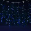 Занавес светодиодный ш 2 * в 1,5м, 276 ламп LED, ″Дождь″, Синий, 8 реж, прозр.пров. купить оптом и в розницу