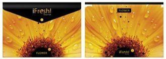 """Папка-конверт с кноп. А4 180мк Hatber """"HD"""" iFRESH-цветок купить оптом и в розницу"""