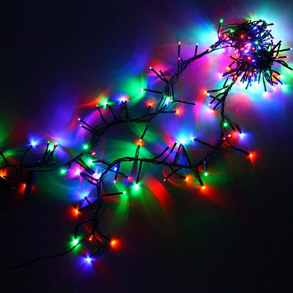 Гирлянда твинклайт 2м, 200 ламп микроLED, ″Фейерверк″, мультицвет с удлинит. купить оптом и в розницу