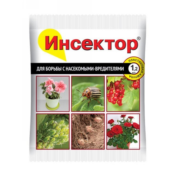 Средство Инсектор против с колорад. жук, насекомые, вредители 1,2мл. амп. пакет купить оптом и в розницу