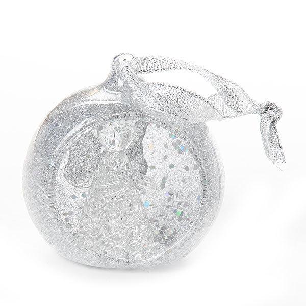 Ёлочная игрушка 6,5см ″Новогодний шар Ангелок″ стекло купить оптом и в розницу