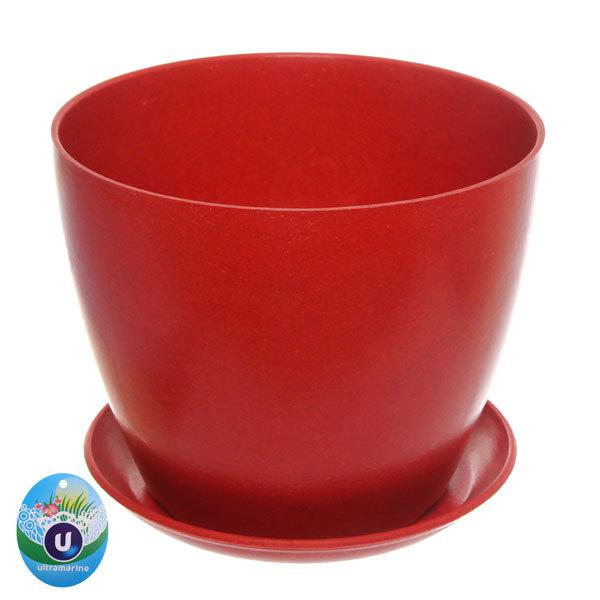 Горшок для цветов ЭКО Класика″ 15*18см SHY-7А красный купить оптом и в розницу