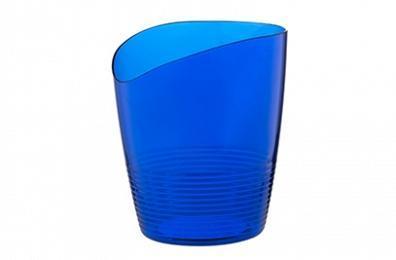 Кашпо для орхидей Mia 0,8 л (синий полупрозрачный)  *16 купить оптом и в розницу