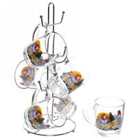 Набор кружек 6шт 350мл ″Снеговики″ на металлической стойке D55531/06 купить оптом и в розницу