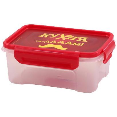 Контейнер пластиковый пищевой ″Кухня″ 0,75л прямоугольный *20 купить оптом и в розницу