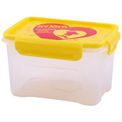 Контейнер пластиковый пищевой ″Кухня″ 1,1л прямоугольный *36 купить оптом и в розницу