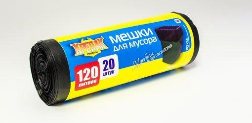 пакеты д/мусора в рулоне 120л/20шт. (крепак) 1*25 купить оптом и в розницу