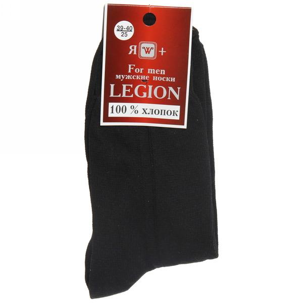 Носки мужские LEGION (хлопок - 100%), черный, р. 25 купить оптом и в розницу