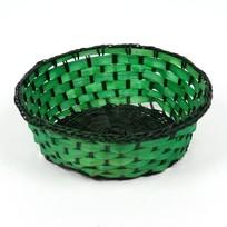 Корзинка плетёная цветная круглая купить оптом и в розницу