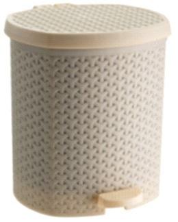 Контейнер педальный для мусора плетенный бежевый 21 л л *4 купить оптом и в розницу