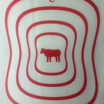 Доска разделочная пластиковая гибкая 30*23см ″Мясо″ купить оптом и в розницу