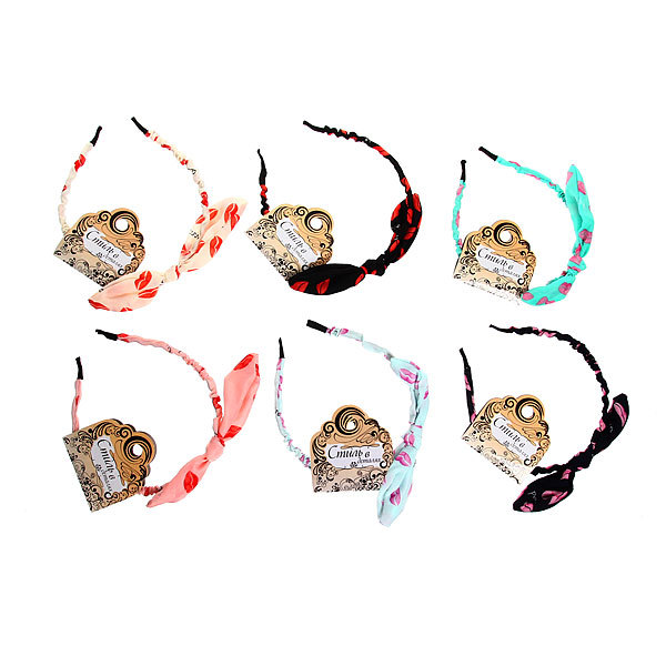 Ободок для волос ″Коллекция Барбара - губки″, цвет микс купить оптом и в розницу