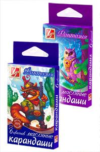 """Мелки маслян. 6цв Луч """"Фантазия"""" купить оптом и в розницу"""