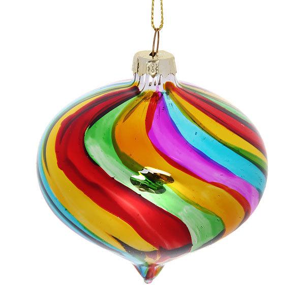 Новогодний шар ″Радужный блеск″ 8см купить оптом и в розницу