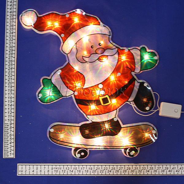 Световое панно, 50см ″Дед Мороз″, 30 ламп LED купить оптом и в розницу