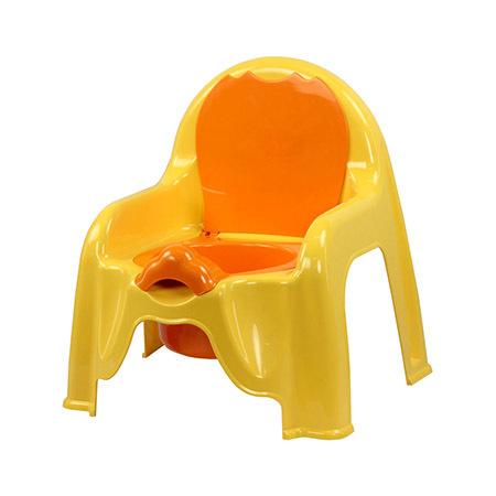Горшок детский стульчик желтый М-1328 купить оптом и в розницу