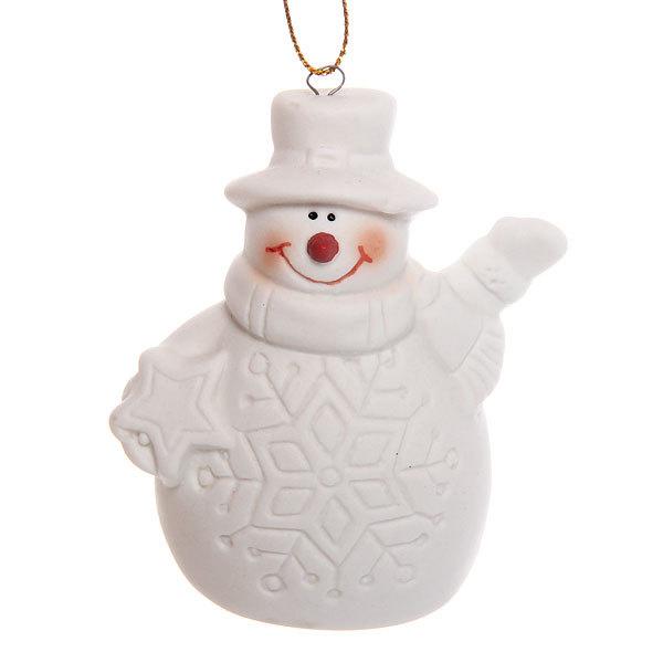 Фигурка с подсветкой ″Снеговичок снежинка″ 7,5см купить оптом и в розницу