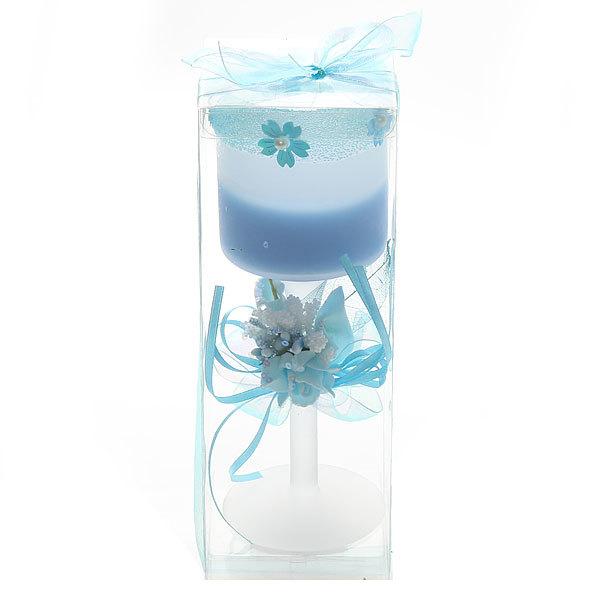 Свеча гелевая ″Лазурин-3″ 20 см купить оптом и в розницу