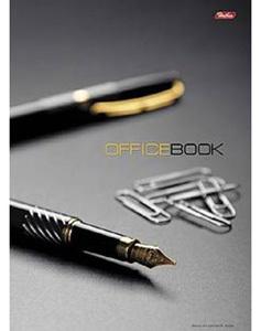 """Блокнот А4 120л.кл.скрепка,тв.обл.HATBER, """"Office Book"""", с перф. уголков купить оптом и в розницу"""
