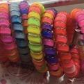 Резинки для волос силиконовые 5шт ″Глянцевая Радуга″, цвет микс d-5.5см купить оптом и в розницу