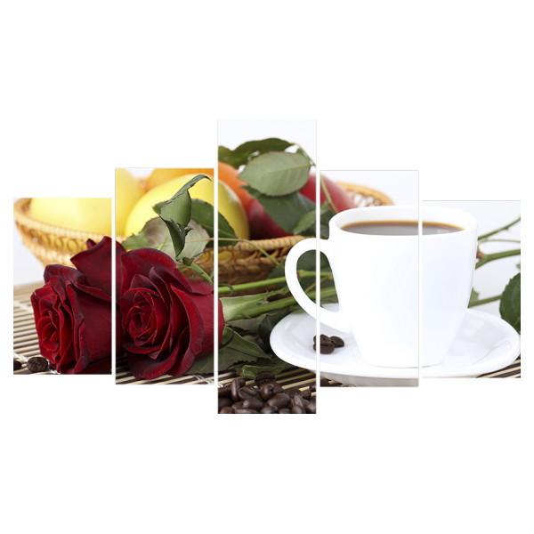 Картина модульная полиптих 75*130 Цветы 192-02 купить оптом и в розницу