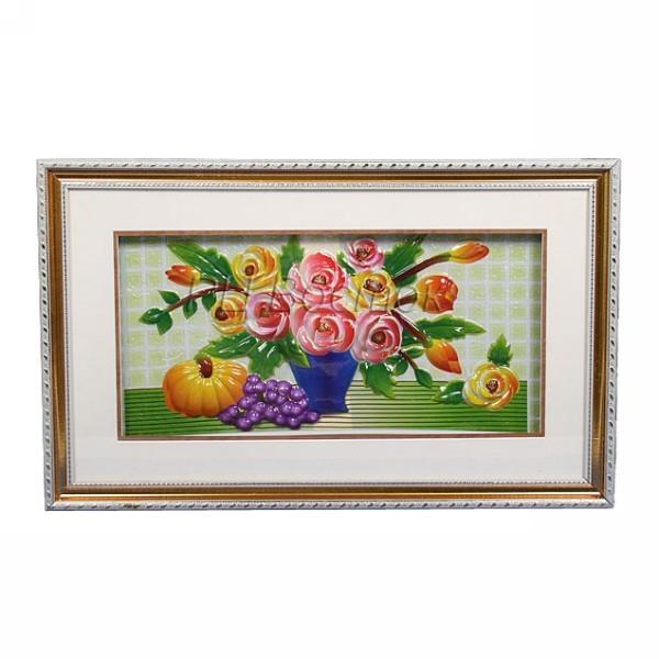 Картина объемная 35*57см ″Цветы″ E-4 купить оптом и в розницу