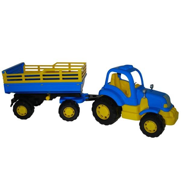 Трактор Крепыш с прицепом №2 44563 П-Е /6/ купить оптом и в розницу