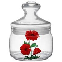 Банка для продуктов стеклянная CESNI 500мл с крышкой ″Маки″ купить оптом и в розницу