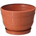 Горшок Флора с поддоном 20 3,2 l зел  *10  Form plastic купить оптом и в розницу