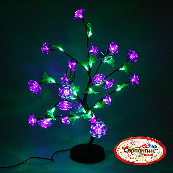 Световое дерево LED 48см, ″ Роза синяя″RB-1 купить оптом и в розницу