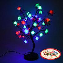 Световое дерево LED 55см, ″Сенполия″ RB( красная, синяя) купить оптом и в розницу