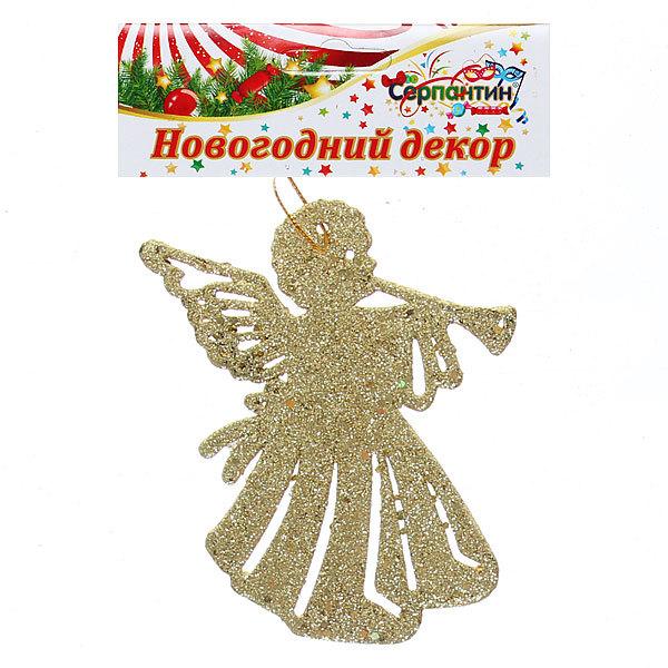 Ёлочная игрушка, 10,5см ″Ангелочек″ золото купить оптом и в розницу