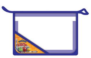 Папка д/тетр. 2отд.на молнии А5 Proff Весёлые паровозики из Чаггингтона, пластик купить оптом и в розницу
