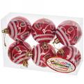 Новогодние шары ″Рождественский листочек″ 6см (набор 6шт.) купить оптом и в розницу