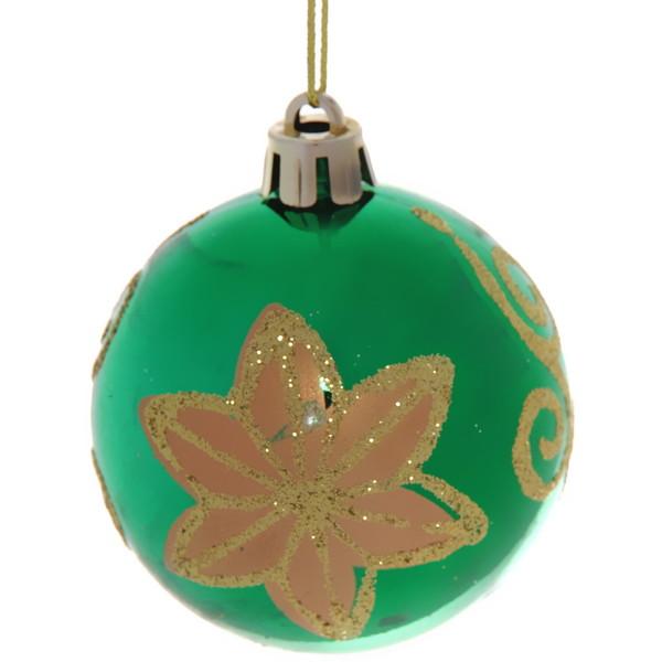 Новогодние шары ″Цветок″ 6см (набор 6шт.) купить оптом и в розницу