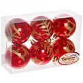 Новогодние шары ″Рубин.Золотой олень″ 7см (набор 6шт.) купить оптом и в розницу