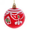 Новогодние шары ″Рубин.Рождественский узор″ 7 (набор 6шт.) купить оптом и в розницу