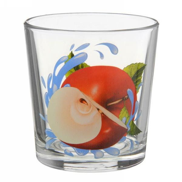 Набор стаканов Ода 6шт. 250мл. ЯБЛОКО КРАСНОЕ низкие купить оптом и в розницу