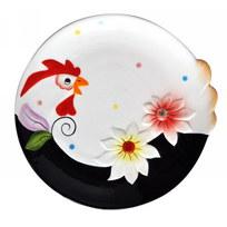 Тарелка керамическая ″Праздничная курочка″ 15,5см купить оптом и в розницу